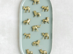 12 Brass Safari animals Place /Escort card holders