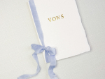 Gold Foil Handmade Paper Vow Book Set